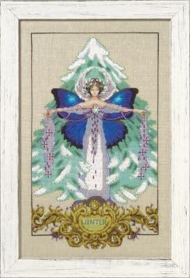 Mirabilia Winter Love printed cross stitch chart