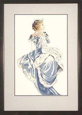 Mirabilia Winter Queen printed cross stitch chart