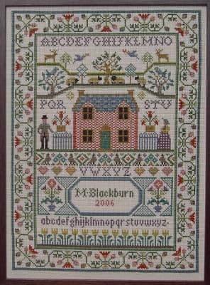 Moira Blackburn Country Cottage Sampler printed cross stitch chart