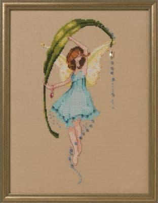 Nora Corbett Dewdrops printed cross stitch chart