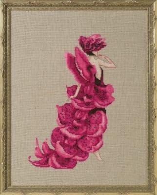Nora Corbett Lady Orchid Moth printed cross stitch chart