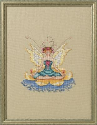 Nora Corbett Lotus printed cross stitch chart