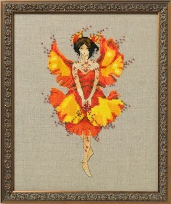 Nora Corbett Miss Ginko printed cross stitch chart