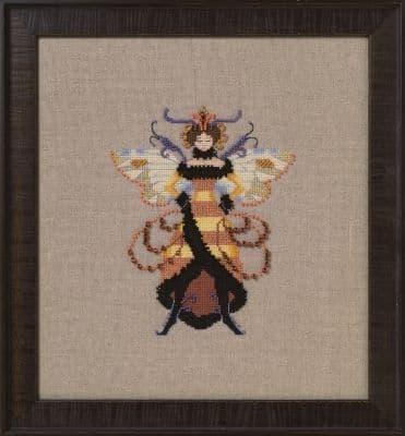 Nora Corbett Miss Honey Bee printed cross stitch chart