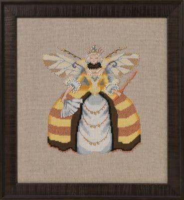 Nora Corbett Miss Queen Bee printed cross stitch chart