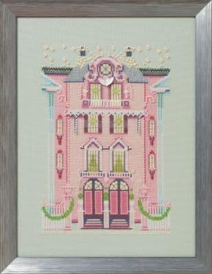 Nora Corbett The Pink Edwardian House printed cross stitch chart