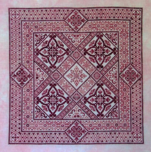 Northern Expressions Needlework Shades of Rose printed cross stitch chart