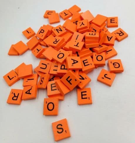 Orange Scrabble Letter Needle Minder