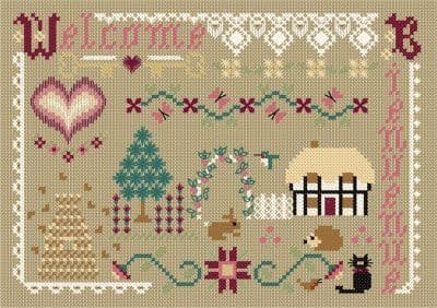 Papillon Creations A Welcoming Spot printed chart