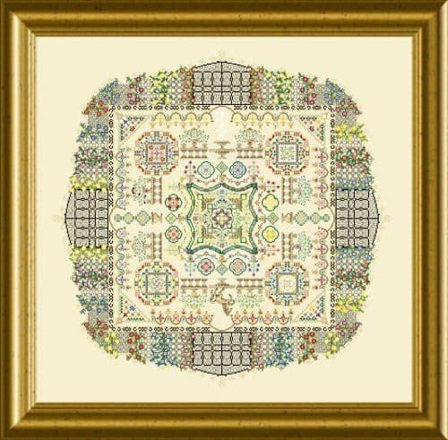 Papillon Creations The Castle Garden (cross stitch version) printed chart