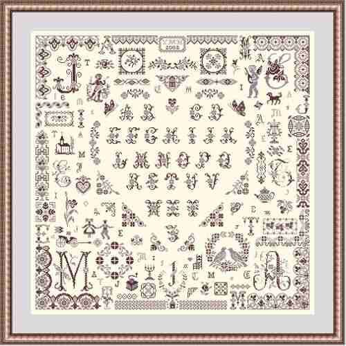 Papillon Creations Three Little Words printed chart