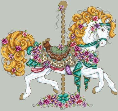 Shannon Christine Designs Carousel Horse cross stitch chart