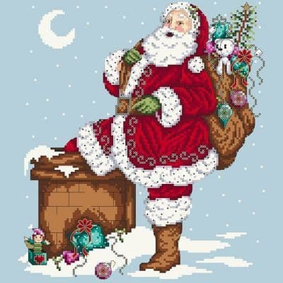 Shannon Christine Designs Jolly Santa cross stitch chart