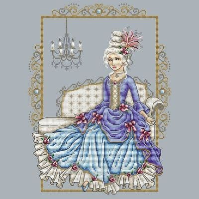 Shannon Christine Designs Rococo Lady cross stitch chart