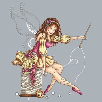 Shannon Christine Designs Sewing Fairy cross stitch chart