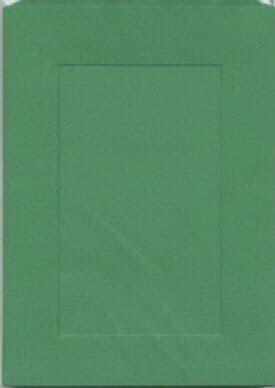 Small Christmas Green Rectangle Opening Aperture Window Card & Envelopes -  10 Pack