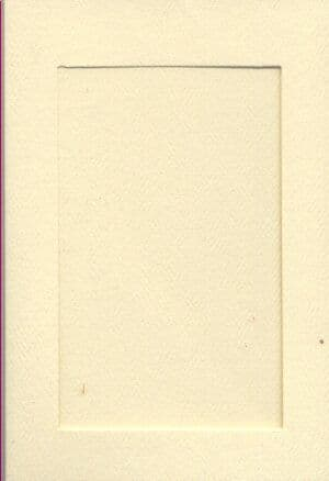 Small Ivory Rectangle Opening Aperture Window Card & Envelopes -  10 Pack