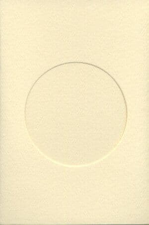 Small Ivory Round Opening Aperture Window Card & Envelopes -  10 Pack