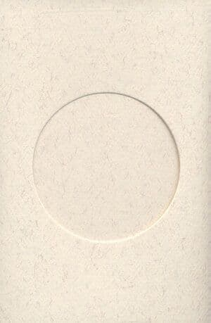 Small Parchment Round Opening Aperture Window Card & Envelopes -  10 Pack