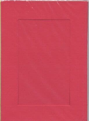 Small Red Rectangle Opening Aperture Window Card & Envelopes -  10 Pack