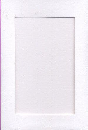 Small White Rectangle Opening Aperture Window Card & Envelopes -  10 Pack
