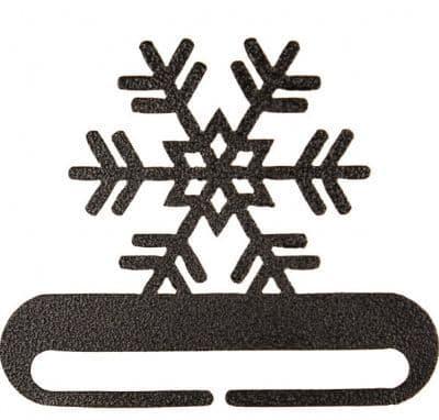 """Snowflake 8"""" Charcoal Metal Bellpull"""