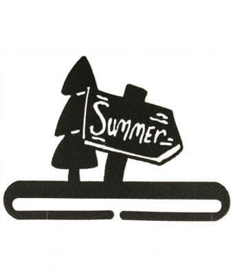 "Summer Sign 6"" Charcoal Metal Bellpull"