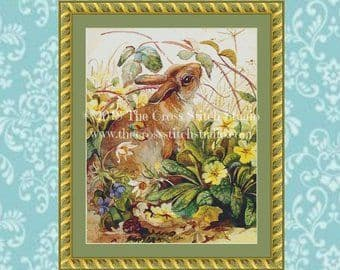 The Cross Stitch Studio Easter Bunny printed cross stitch chart