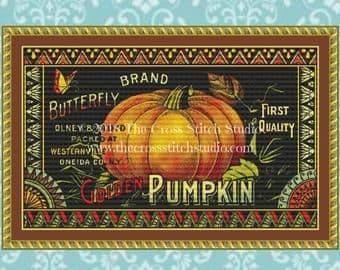 The Cross Stitch Studio Golden Pumpkin Printed cross stitch chart