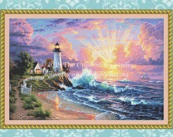 The Cross Stitch Studio Light of Hope Printed cross stitch chart