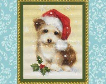 The Cross Stitch Studio Santa's Little Helper printed cross stitch chart