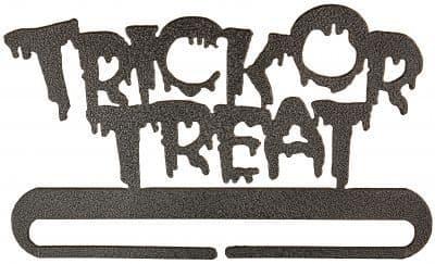 "Trick or Treat 6"" Charcoal Metal Bellpull"