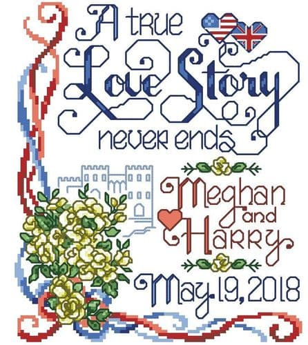 Ursula Michael A Royal Wedding Meghan and Harry - Lakeside Needlecraft Exclusive cross stitch chart