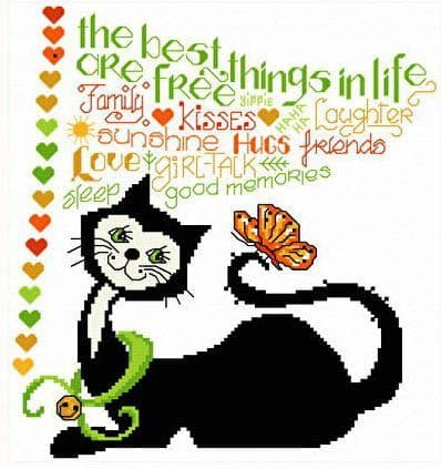 Ursula Michael Best Things in Life cross stitch chart
