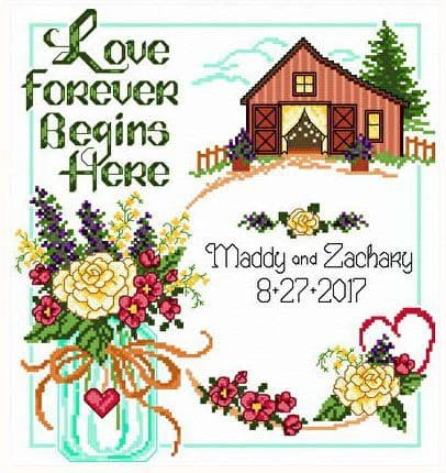 Ursula Michael Country Wedding cross stitch chart