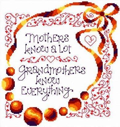 Ursula Michael I Know Grandmas cross stitch chart