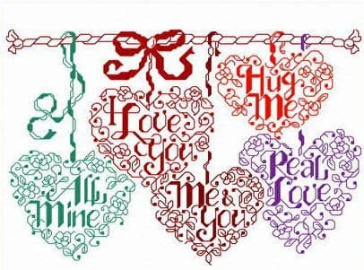 Ursula Michael Let's Be Sweethearts cross stitch chart