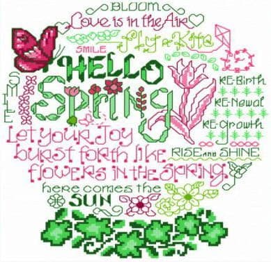 Ursula Michael Let's Bloom cross stitch chart
