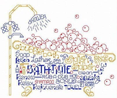 Ursula Michael Let's Bubble Bathe cross stitch chart