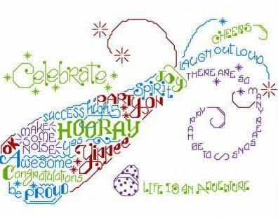 Ursula Michael Let's Cheer cross stitch chart
