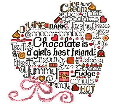 Ursula Michael Let's Eat Chocolate cross stitch chart