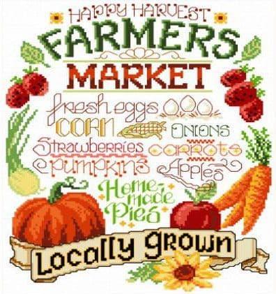 Ursula Michael Let's Farm Fresh cross stitch chart