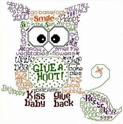 Ursula Michael Let's Give a Hoot cross stitch chart