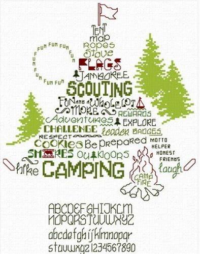 Ursula Michael Let's Go Camping cross stitch chart
