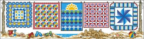 Ursula Michael Row of Summer Quilts chart cross stitch chart