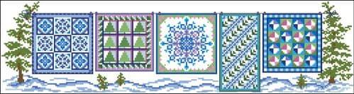 Ursula Michael Row of Winter Quilts chart cross stitch chart