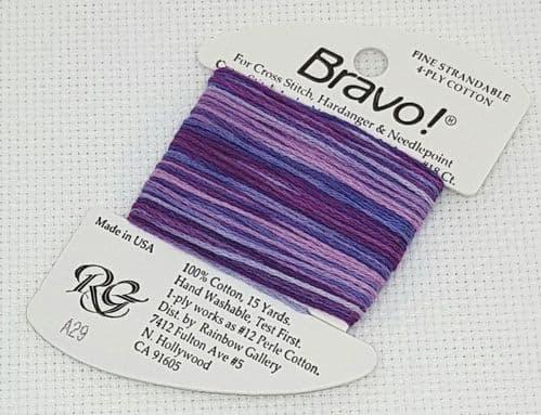 A29 Violets Bravo thread