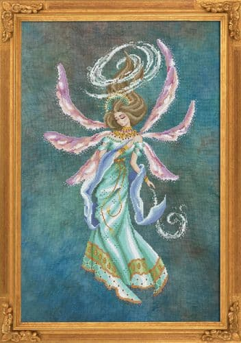 Bella Filipina Amihan, Deity of the Wind printed cross stitch chart