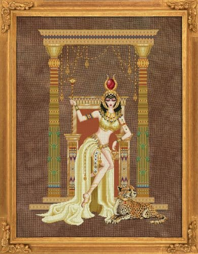 Bella Filipina Cleopatra, Queen of the Nile printed cross stitch chart
