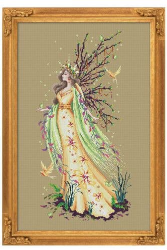 Bella Filipina Gaia the Earth Goddess printed cross stitch chart